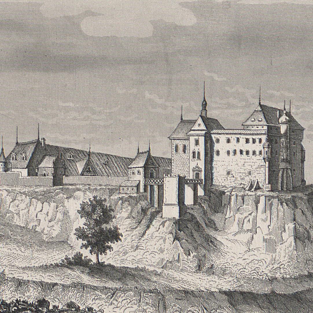 Widok ogólny zamku w Pińczowie