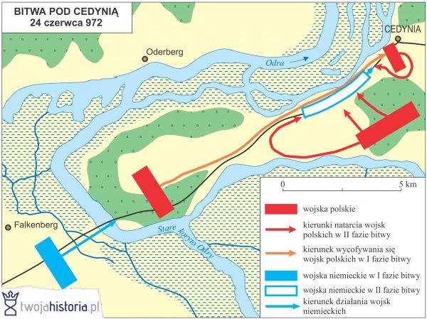 Bitwa pod Cedynia 972 (ryc. Daniel Malak/TwojaHistoria.pl).