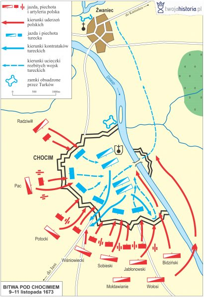 Bitwa pod Chocimiem 1673 (ryc. Daniel Malak/TwojaHistoria.pl).