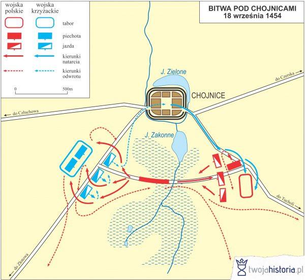 Bitwa pod Chojnicami 1454 (ryc. Daniel Malak/TwojaHistoria.pl).