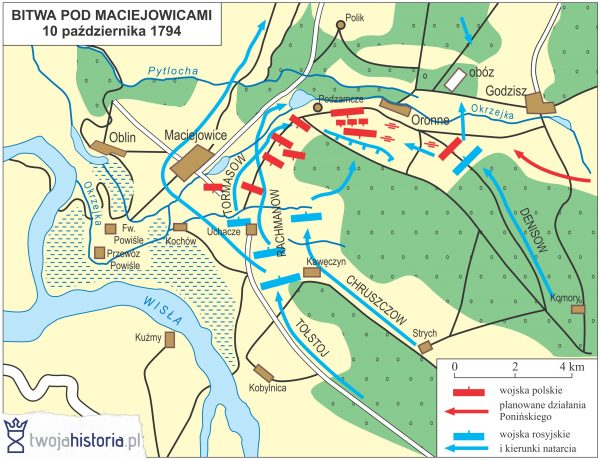 Bitwa pod Maciejowicami, 1794.