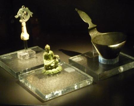 Figurka Buddy z wystawy Muzeum Historii Szwecji w Sztokholmie.