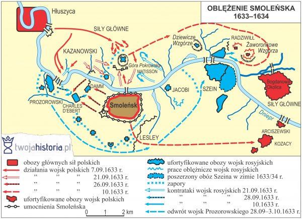 Oblężenie Smoleńska, 1633-1634.