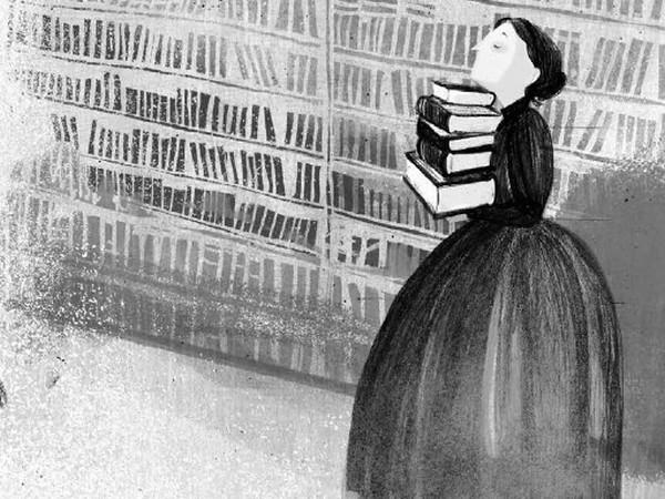 """Oto rzeczona feministka. Ilustracja pochodzi z książki Anny Dziewit-Meller """"Damy, dziewuchy, dziewczyny. Historia w spódnicy"""" (Znak Emotikon 2017)."""