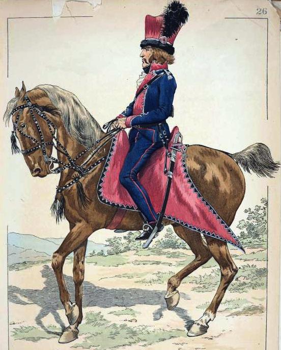 Żołnierz polskich legionów we Włoszech. Anonimowa rycina z XIX wieku
