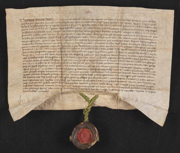 Jeden z ostatnich dokumentów królowej Elżbiety, wystawiony w 1379 roku.