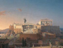 Akropol na XIX-wiecznym malowidle Leona von Klenze