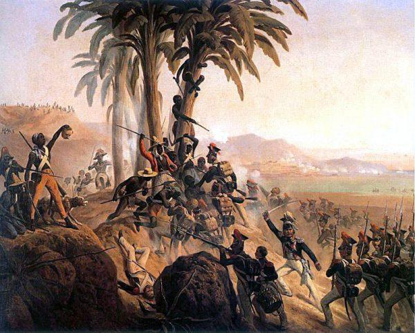 Bitwa na San Domingo. Obraz Januarego Suchodolskiego, 1845