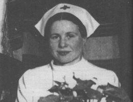 Irena Sendlerowa sfotografowana w Wigilię 1944 roku.