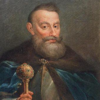 Dowodzący oblężeniem Dorpatu Jan Karol Chodkiewicz na XVIII-wiecznym obrazie Jana Bogumiła Plerscha.