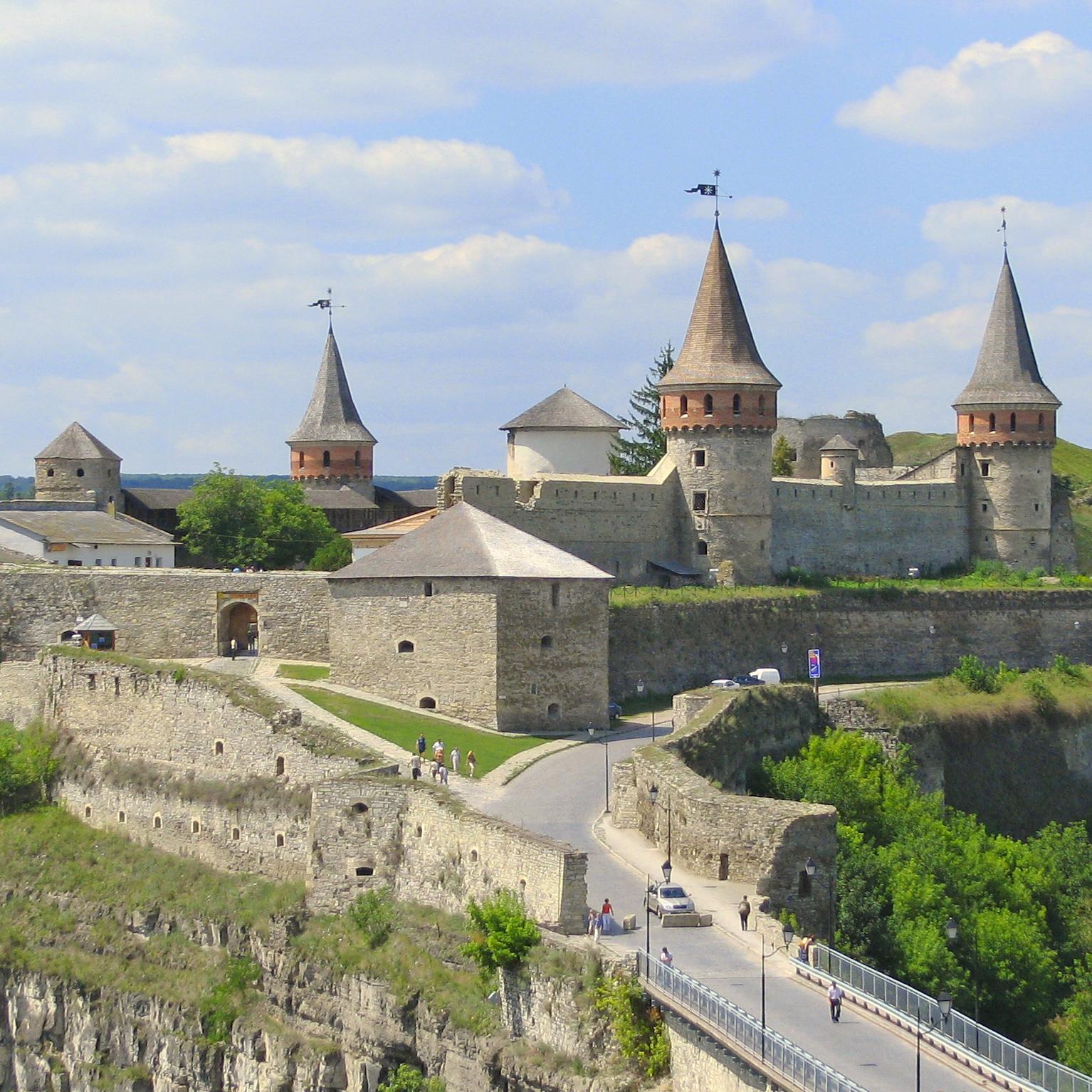 Twierdza w Kamieńcu Podolskim. Widok z 2007 roku.