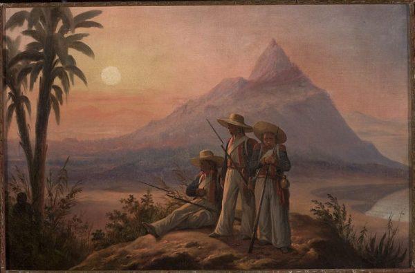 Legioniści na San Domingo. Obraz Januarego Suchodolskiego, 1854