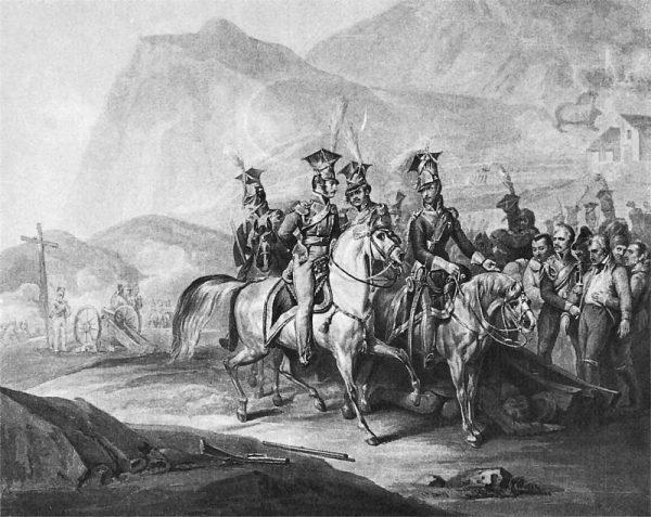 Legiony polskie we Włoszech. Obraz Józefa Peszki, około 1810 roku.