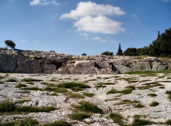 Pnyx przy Akropolu. Miejsce spotkań ateńskiego zgromadzenia ludowego