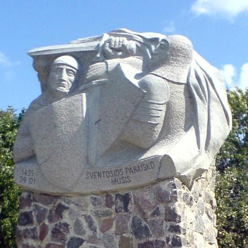 Pomnik na miejscu bitwy pod Wiłkomierzem
