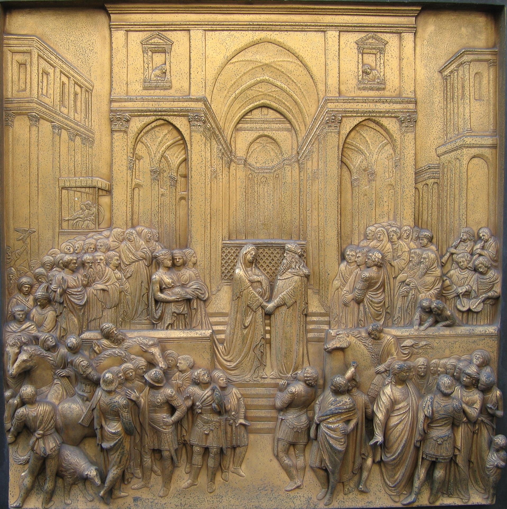 Abisynia (dzisiejsza Etiopia) była dla średniowiecznych trudna do zlokalizowania. Uważali, że tam właśnie mieściło się królestwo Saby, kochanki króla Salomona. Na zdjęciu przedstawienie Saby i Salomona z Florencji.