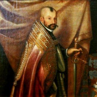 Portret Stefana Batorego w stroju koronacyjnym z około 1583 roku.