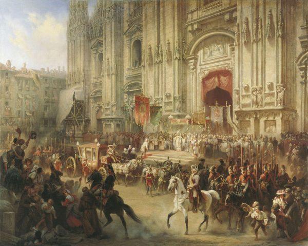 Suworow w Mediolanie. Jego armii towarzyszyły przeszkolone oddziały grabieżców