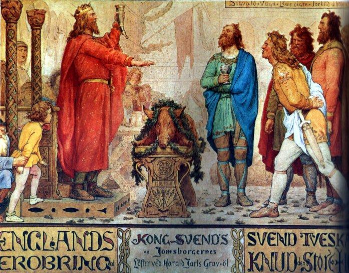 Swen Widłobrody był królem duńskim, norweskim oraz przez rok (1013-1014) władcą Anglii. Dokładna data urodzenia króla nie jest znana, ale popularnością cieszy się pogląd, że przyszedł on na świat w roku, w którym jego ojciec przyjął chrześcijaństwo. Przydomek Swena odnosił się do jego długich wąsów, splecionych na kształt wideł.