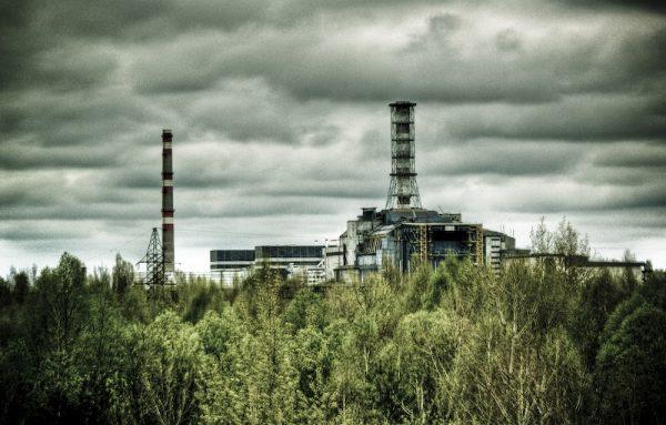 Widok na czarnobylski reaktor.
