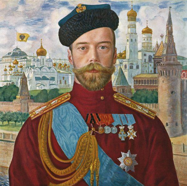 Idealny kandydat na prezydenta Rosji? Wielu widziało w tej roli cara Mikołaja II! Portret pędzla Borysa Kustodijewa z 1915 roku.