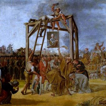 Wieszanie podobizn zdrajców. 1794 rok