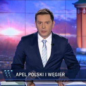 """Michał Adamczyk. Kadr z """"Wiadomości""""TVP."""