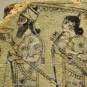 Detal z asyryjskiej terakoty.