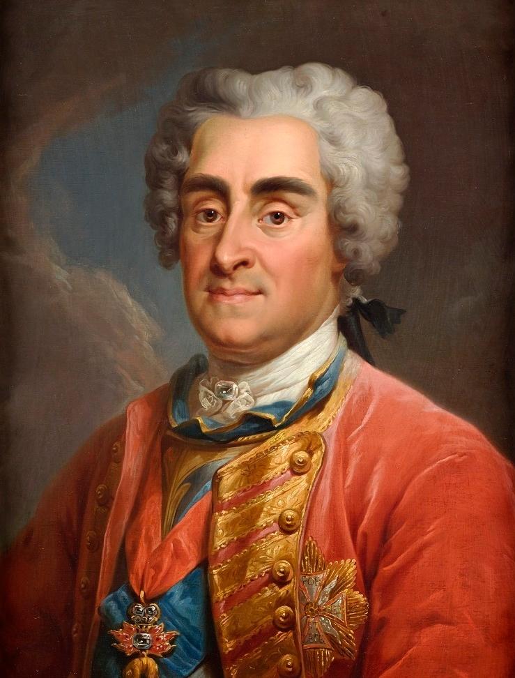 August II Mocny (August II Wettyn) na obrazie M. Bacciarellego.