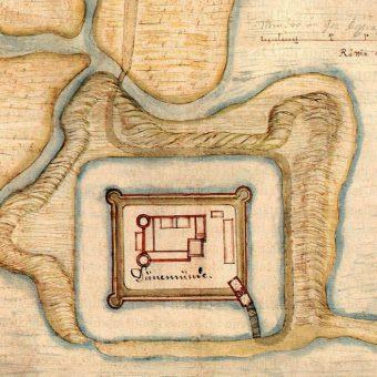 Twierdza Diament na rysunku Giacomo Lauro z początków XVII wieku.