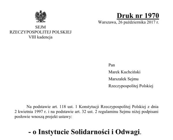 Sejm już zaczął prace nad projektem ustawy. Odbyły się już dwa jego czytania.