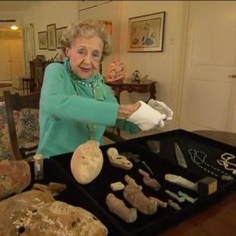 """Screen z materiału australijskiej stacji """"7 News"""" poświęconego Joan Howard."""