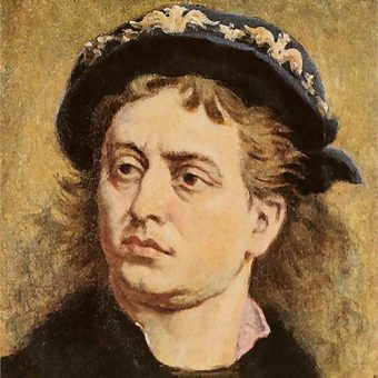 Jan Olbracht na obrazie pędzla Jana Matejki.