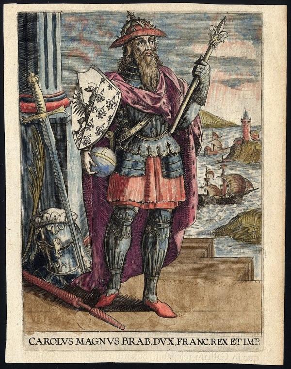Karol Wielki na obrazie Adriana Barlandusa.