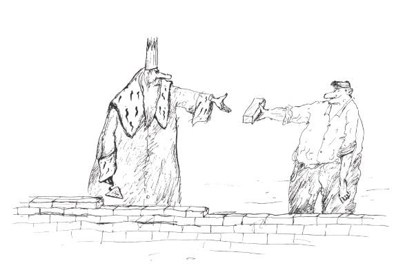 """Ilustracja z książki """"Leksykon polskich powiedzeń historycznych"""" autorstwa Macieja Wilamowskiego, Konrada Wnęka i Lidii A. Zyblikiewicz."""