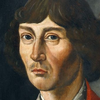 Mikołaj Kopernik. Fragment obrazu z kościoła św. Janów w Toruniu.