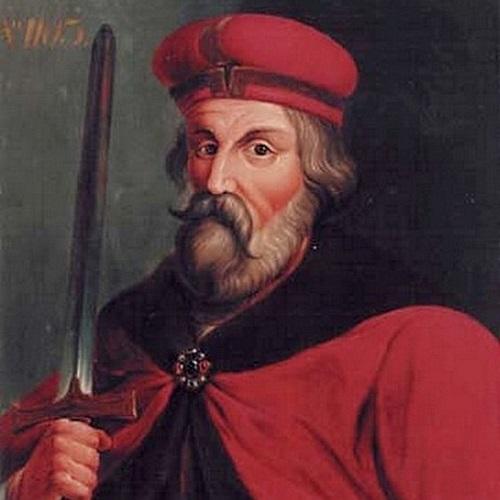 Bolesław Krzywuousty pędzla Jacobiego na podstawie obrazu M. Bacciarellego (domena publiczna).