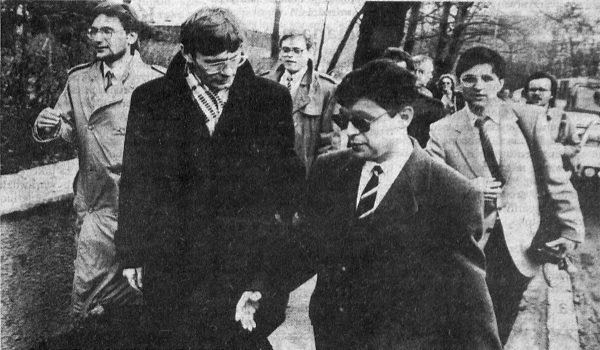 Leszek Balcerowicz na fotografii z 1991 roku.