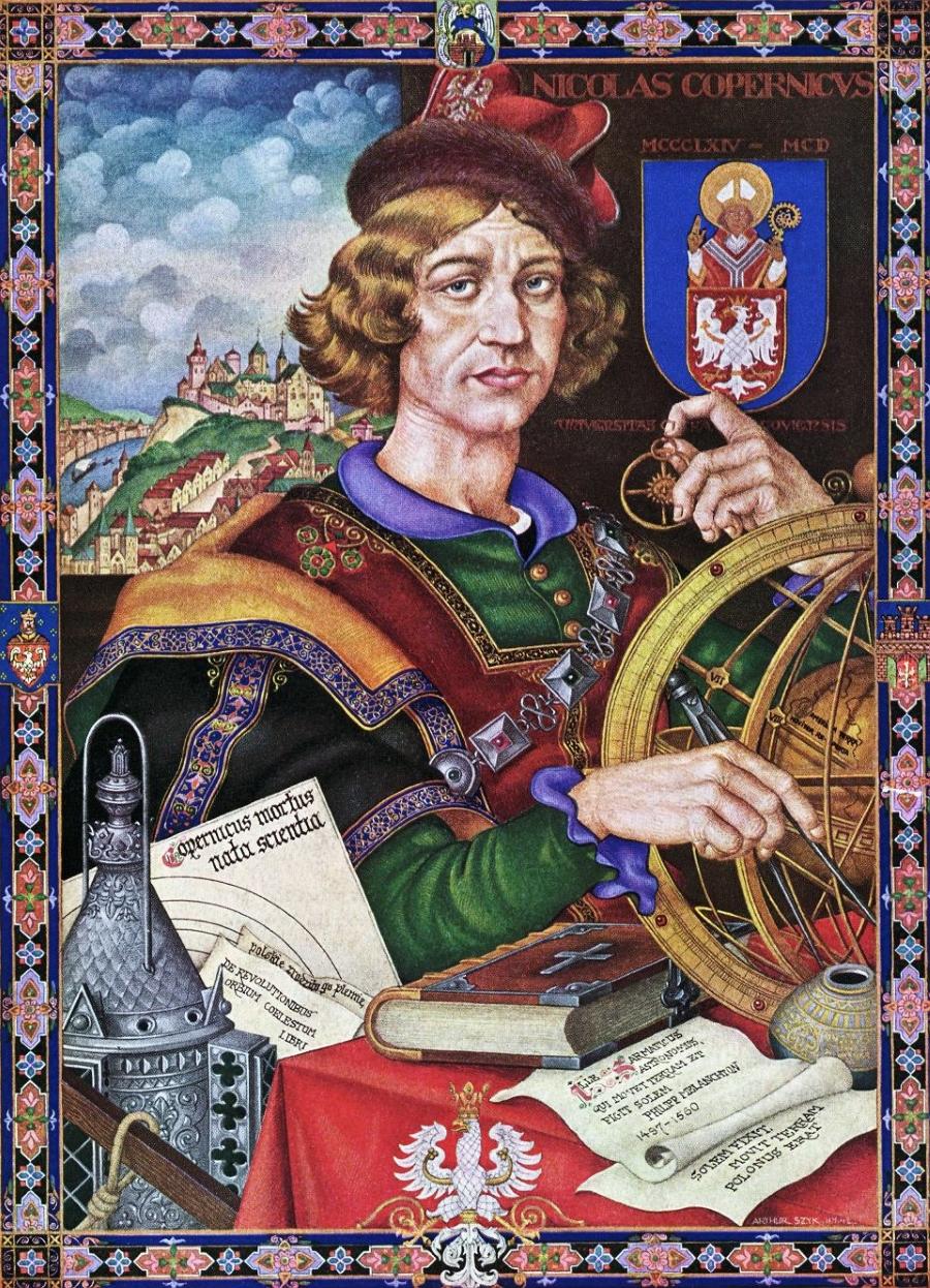 Mikołaj Kopernik. Niedatowany portret astronoma.