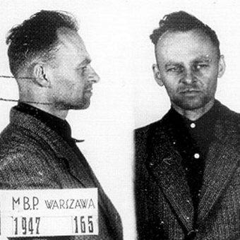 Witold Pilecki. Zdjęcie z więzienia na Mokotowie. (fot. domena publiczna)