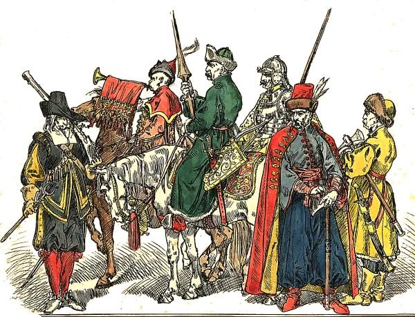 Polscy żołnierze z okresu powstania Chmielnickiego pędza Matejki. (fot. domena publiczna)