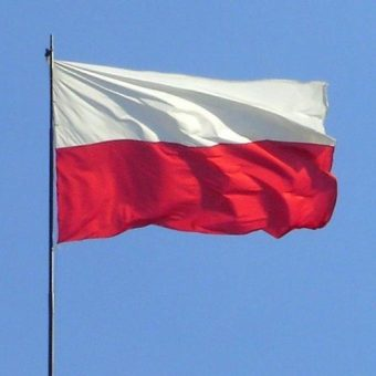 Polska flaga (fot. domena publiczna)