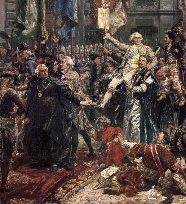 Uchwalenie Konstytucji 3 Maja. Obraz Jana Matejki.