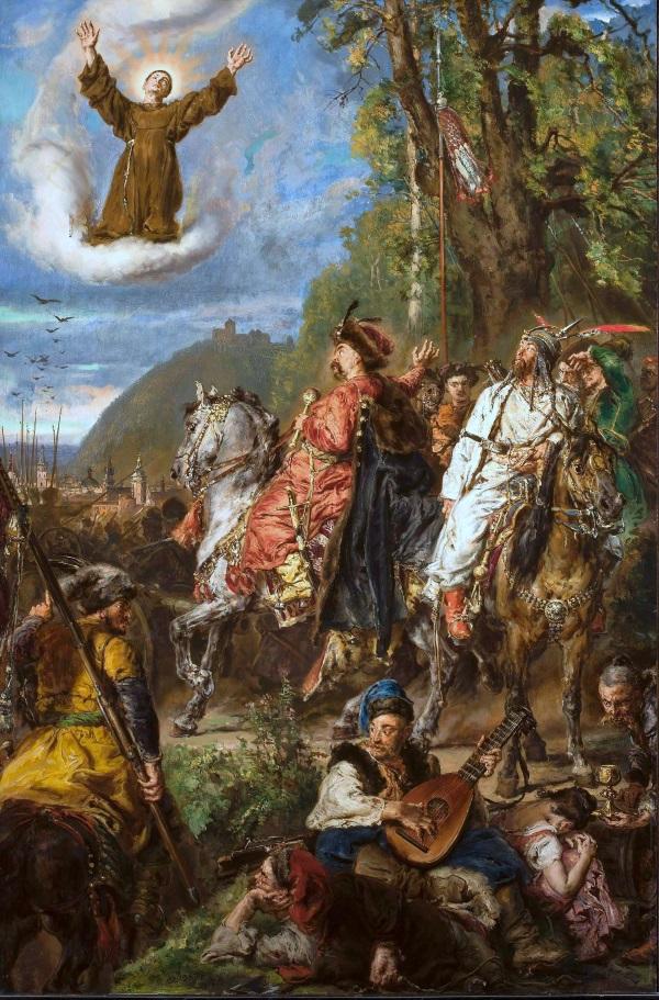 Bohdan Chmielnicki z Tuhaj-Bejem pod Lwowem. (Jan Matejko, domena publiczna)