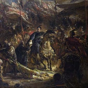 Jan Sobieski po bitwie wiedeńskiej. Obraz Jana Matejki.