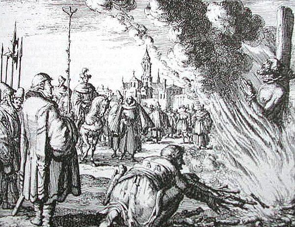 W dawnych czasach czarownice często kończyły na stosie.