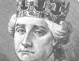Stanisław August Poniatowski na rycinie ks. Pillatiego. Zdecydowanie nie jest mu do śmiechu.