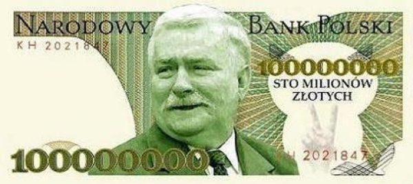 Krążący po internecie obrazek, który czytelnie ilustruje złożoną przez Lecha Wałęsę obietnicę.