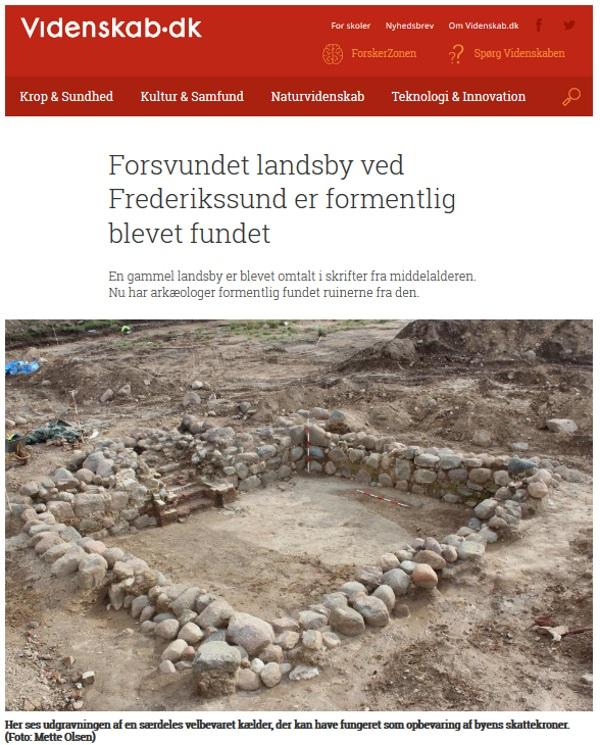 Fundamenty jednego z odkopanych domów (fot. videnskab.dk)