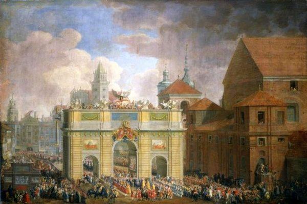 Johann Samuel Mock, Wjazd Augusta III do Warszawy (fot. domena publiczna)